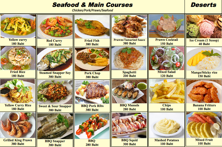 Seaside Restaurant Menu 2
