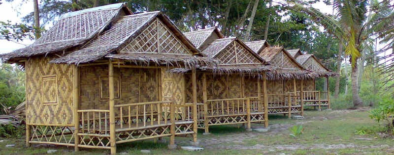 Seaside Cottages and Restaurant bamboo huts